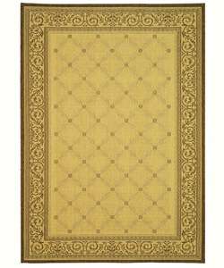Safavieh Indoor/ Outdoor Bay Natural/ Brown Rug (5'3 x 7'7)