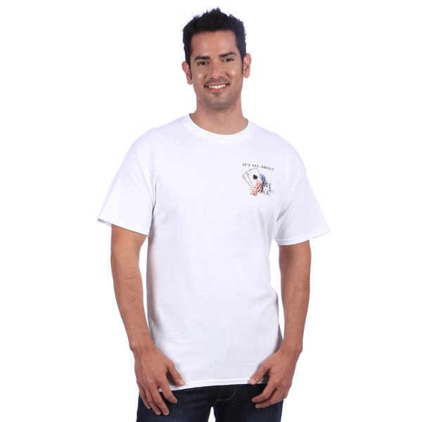 It's All About Texas Hold 'Em Men's White T-Shirt