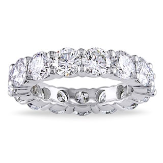 Miadora Signature Collection 18k White Gold 5ct TDW Diamond Eternity Ring (H-I, I1-I2)