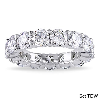 Miadora 18k Gold 5ct TDW Round Certified Diamond Eternity Band (G-H, I1-I2)