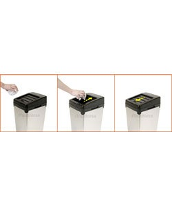 Automatic White Steel Touchless Trash Can SX