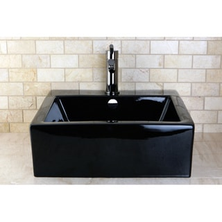 Vitreous China Black Lavatory Sink