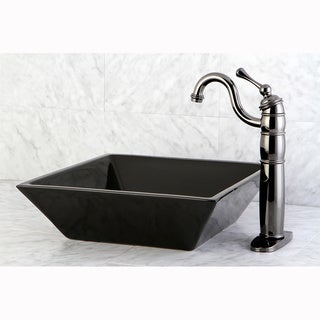 Parisan Black Vessel Lavatory Sink