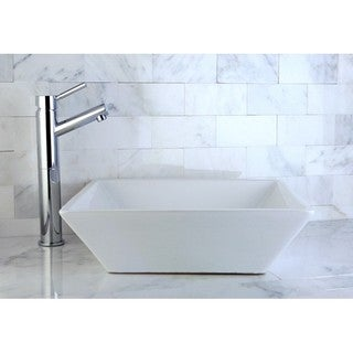 Parisan White Vitreous China Vessel Lavatory Sink