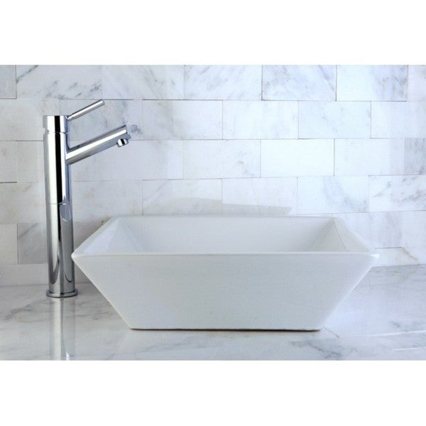 Parisan White Vitreous China Vessel Lavatory Sink - 10718198 ...