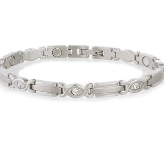 Sabona Lady Executive Silver Gem Magnetic Bracelet
