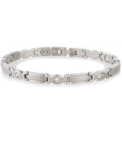 Sabona Lady Executive Silver Gem Magnetic Bracelet