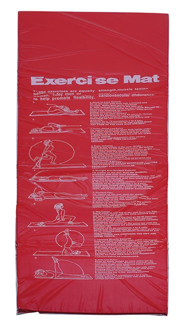Red Vinyl Exercise Mat
