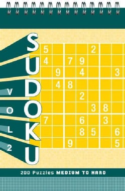 Sudoku Puzzle Pad: Medium to Hard (Hardcover)