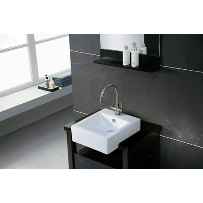 Apron Sink For Bathroom : Citadel White Apron-Front Lavatory Sink - 10719643 - Overstock.com ...
