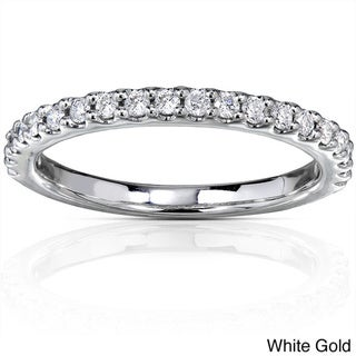 Annello 14k Gold 1/4ct TDW Diamond Semi-eternity Band (G-H, I1-I2)