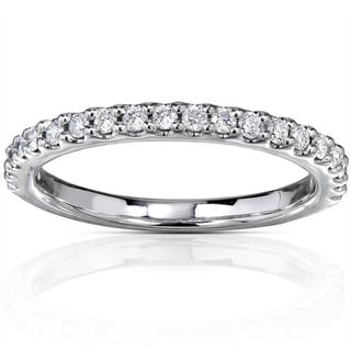 14k White Gold 1/4ct TDW Diamond Semi-Eternity Band (G-H, I1-I2)