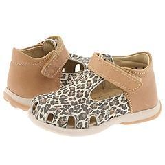 Minibel Kids Baie (Infant/Toddler) Leopard/Tan Sandals