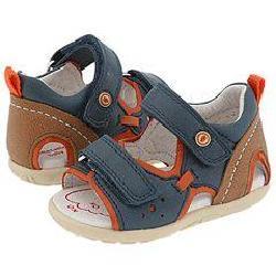 Garvalin Kids 082113 (Infant/Toddler) Navy Sandals
