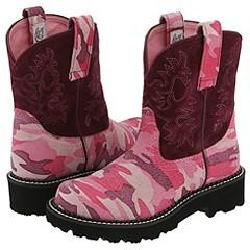 Ariat fatbaby pink camo boots size 6 5 b 12395696 overstock com
