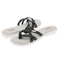 Bass Sharon Black Patent Sandals