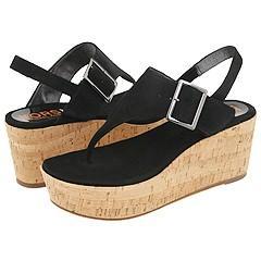 KORS Michael Kors Saffron Black Kid Suede Sandals   Size 9.5 M