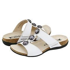 Mephisto Adua White Calfskin Sandals