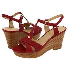 Franco Sarto Electra Cherry Leather Sandals