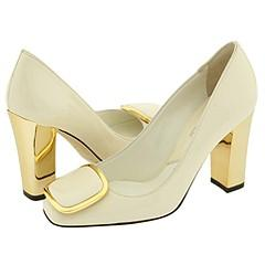 Michael Kors Canyon Vanilla Patent Pumps/Heels