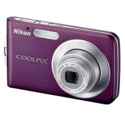 Nikon Coolpix S210 8.1MP Plum Digital Camera (Refurbished)