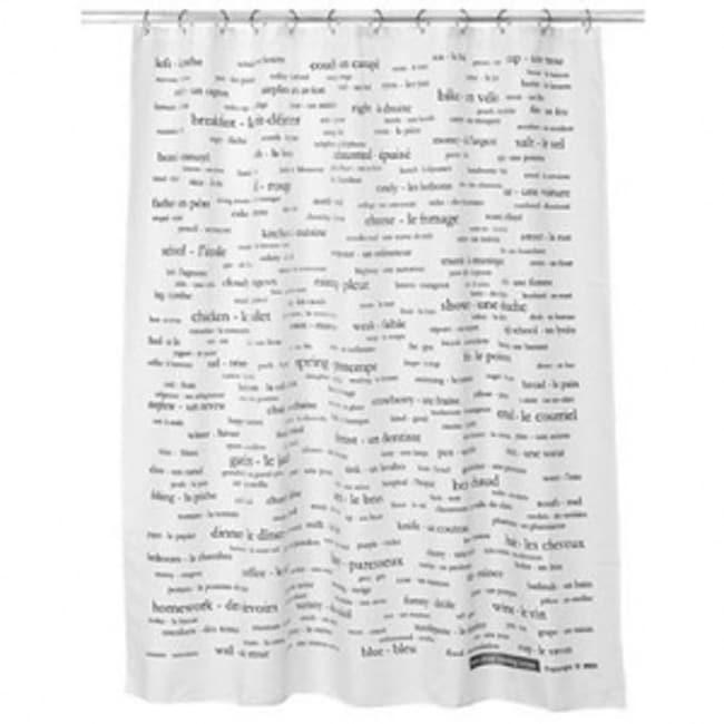 250 German Word Shower Curtain