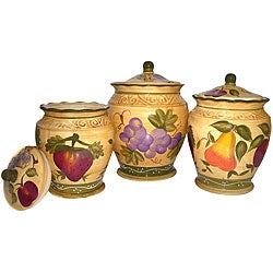 Tuscan Hand-painted Canister Set