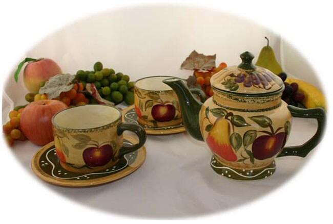 Tuscan Collection Handpainted 5-piece Tea Set