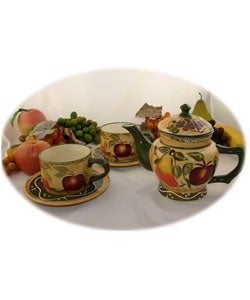 Tuscan Collection Handpainted 5-piece Tea Set