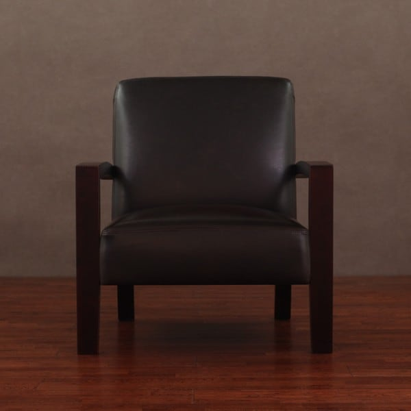 Roadster Dark Brown Leather Chair