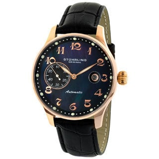 Stuhrling Original Heritage Rose Goldtone Auto Date Watch