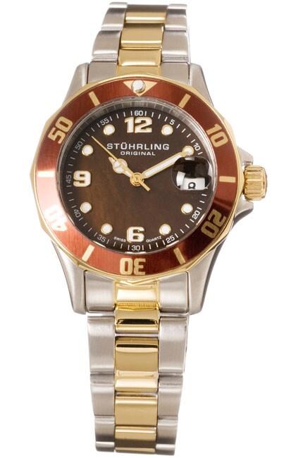 Stuhrling Original 'Lady Clipper' Diver Swiss Quartz Watch