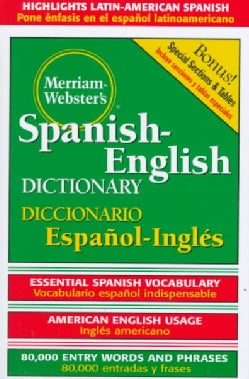 Dic Merriam-Webster's Spanish-English Dictionary (Hardcover)