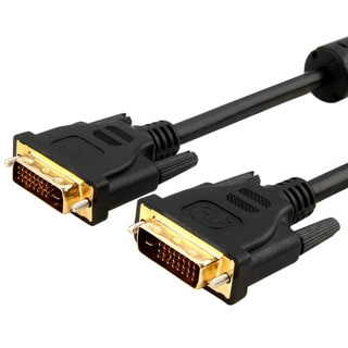 Black 6-foot DVI-D Digital Dual Link M/M DVI Cable