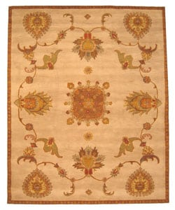 Hand-tufted Jewel Ivory Wool Rug (7'9 x 9'9)
