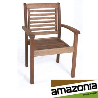 Eucalyptus Wood Stackable Chair