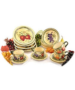 Tuscan Collection Hand-painted 16-piece Dinnerware Set