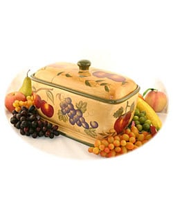 Tuscan Collection Hand-painted Toast/Bread Jar