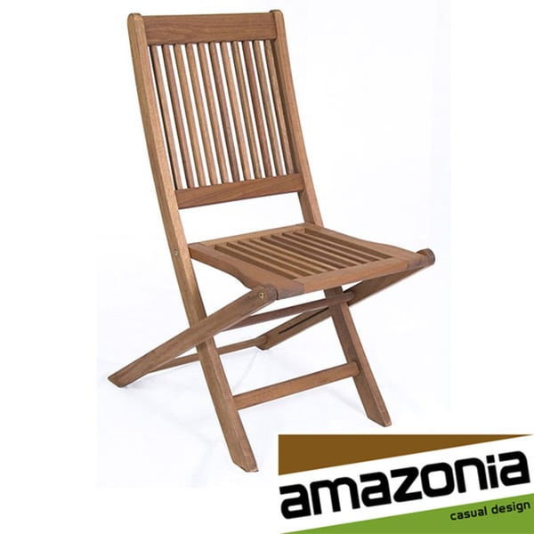 Amazonia teak bordeaux teak chairs set of 2