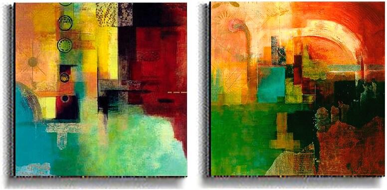 Yin Yang & Chariots of the Gods Canvas Art Set