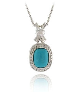 Glitzy Rocks Sterling Silver Blue Turquoise Necklace