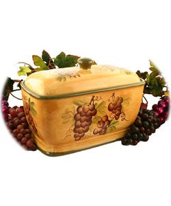 Sonoma Collection Hand-painted Bread Container