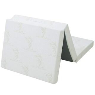 "Cheer Collection Tri-fold 4"" Folding Futon Mattress"