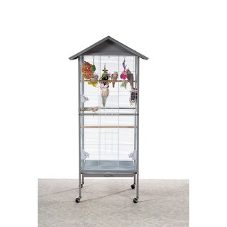 Prevue Pet Products Charming Aviary Bird Cage Pearl Grey