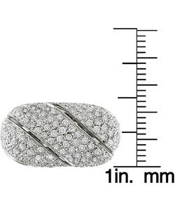 Miadora 18k White Gold 2-3/8ct TDW Diamond Ring