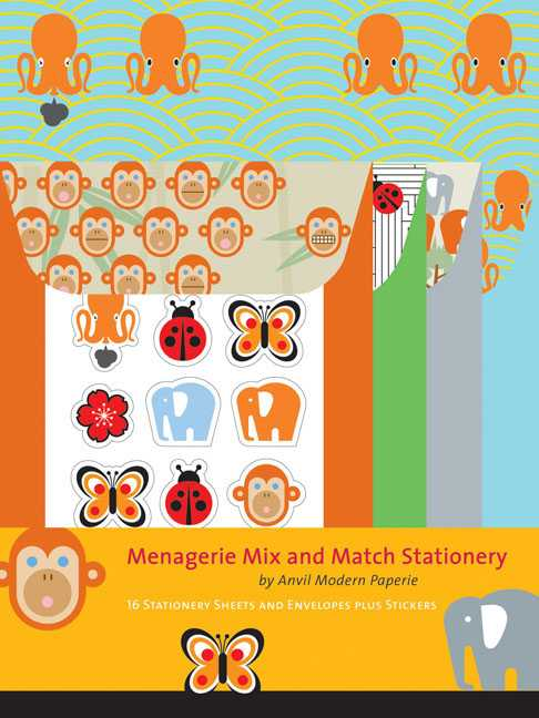 Menagerie Mix and Match Stationery (Cards)