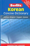 Berlitz Korean Dictioinary: Korean-english / English-korean (Paperback)