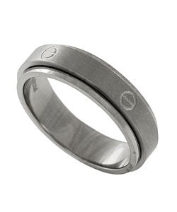 Men's Titanium Screwtop Spinner Ring