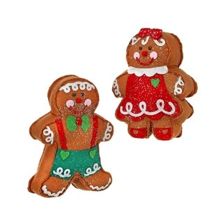 13 Inch Frost Felt Gingerbread Boy/Girl Table piece Set