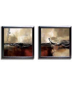 Maitland Symphony in Red Framed Canvas Set